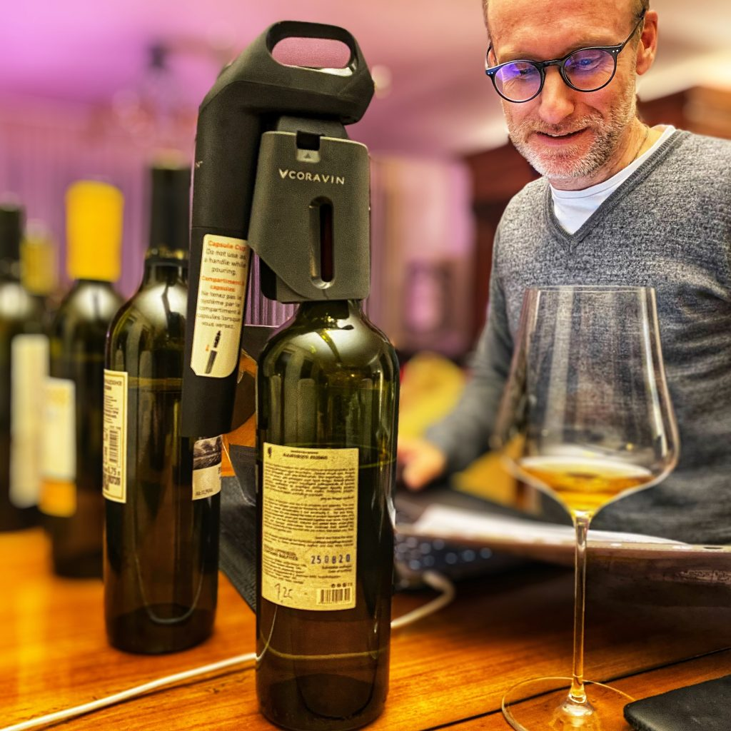 Thomas Curtius taste Wine from Georgia