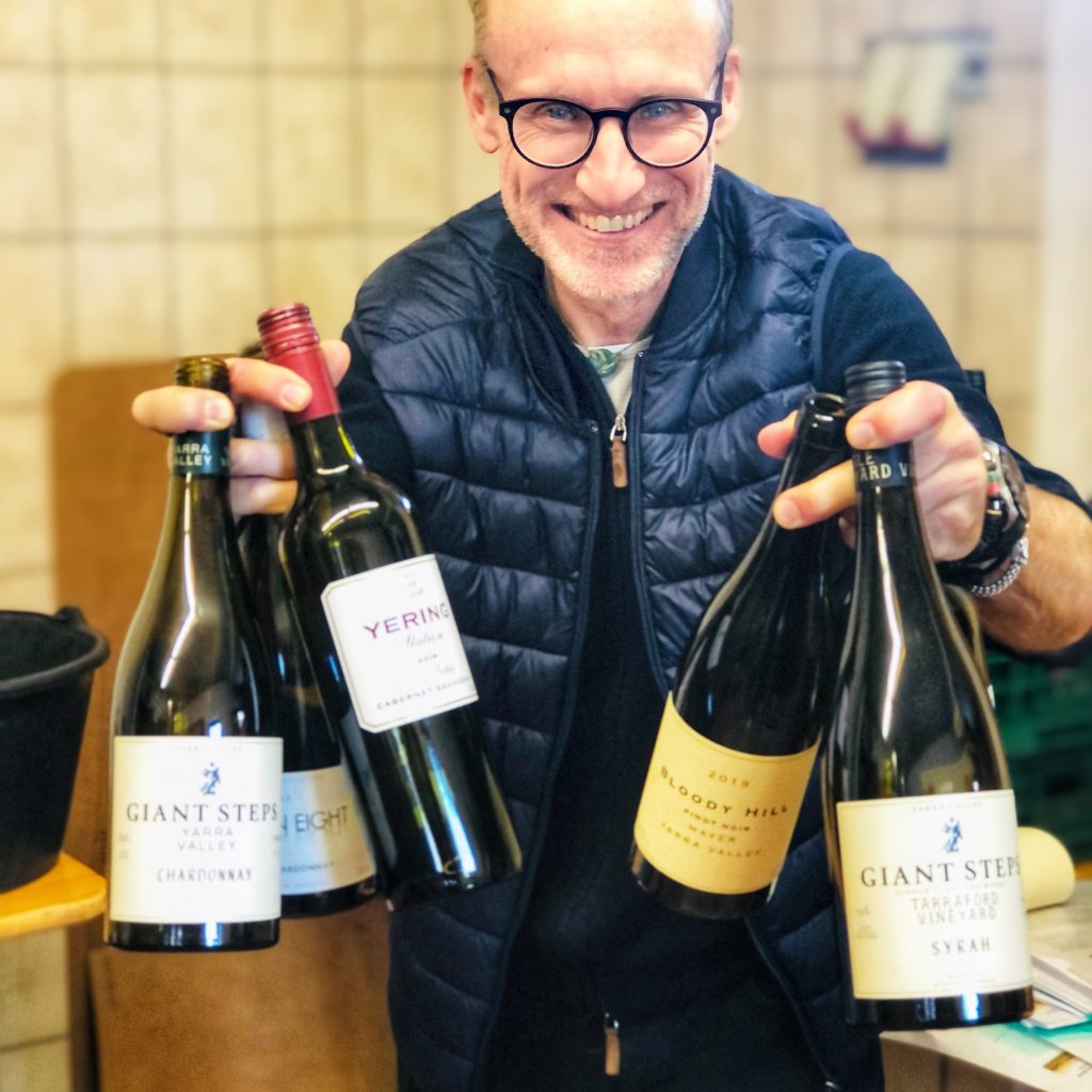 Thomas Curtius MW with wines from Victoria